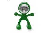 un ceas de perete personalizat in forma de inima, un mouse pad personalizat in forma de inima, un robotel flexibil verde pentru birou