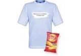 1 tricou la alegere + 1 bax de chipsuri Lay's / zi, 1 kit de petrecere format din 3 tricouri la alegere + 3 baxuri de chipsuri Lay's / saptamana