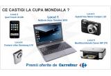 un netbook Asus Timeline 3810, un iPod Touch 32 GB, un aparat foto Nikon Coolpix L22, o camera video Samsung U10, o muntifunctionala Canon MP 270