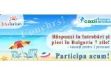 un sejur pentru doua persoane de 7 nopti in Albena la Hotel RALITSA 3*, un weekend pentru doua persoane in Sveti Vlas la Hotel Paradise Beach 4*, 10 x tricou