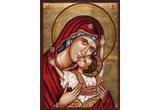 <b>Icoane pictate pe lemn si piatra de Matei si Maria Kornelia Schinteie din Covasna. </b><br />