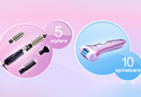 <b>10 epilatoare Philips Satinelle Ice Premium si 5 stylere Philips Salon Airstylist Essential</b><br />
