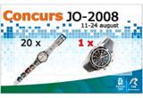 <b>20 de ceasuri editie limitata dedicata Jocurilor Olimpice Beijing 2008</b> (cate 10 pe etapa)<br />