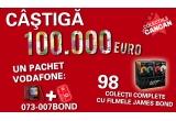 100.000 euro sau 3.000 euro, 98 x colectie completa cu filmele James Bond, un pachet Vodafone telefon + cartela + un numar special: 073 007 BOND