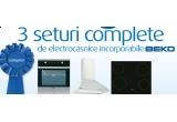 3 x set de electrocasnice incorporabile Beko