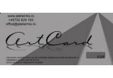 2 x ArtCard in valoare de 50 EUR, 3 x plasuta ecologica