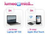 "o excursie de 7 nopti, pentru doua persoane in Turcia, 2 x laptop HP 530 T5200, 3 x Apple iPod Touch<br /> <br /> <div style=""padding: 10px; border: 1px solid #FF0000; font-weight: bold;"">Concursul si-a anuntat castigatorii. La tragerea la sorti a participat si un reprezentant Konkurs.ro. <br /> <a target=""_blank"" href=""http://www.lumeaemica.ro/?m=contest&t=castigatori"">Vezi lista castigatorilor</a></div> .<br /> <br /> <div style=""margin: 0px auto; text-align: center;""><a rel=""nofollow"" target=""_blank"" href=""http://www.konkurs.ro/concursuri-garantate/certificat-WXpGbQ=="">  <img alt="""" style=""border: 0px none ;"" src=""http://www.konkurs.ro/img/konk-seal.jpg"" /></a></div>"