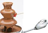 <b>O fantana de ciocolata si un cutit electric&nbsp;</b>