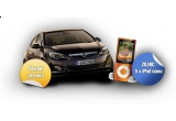 o masina Opel ASTRA, 5 x iPod nano / zi, 3 x premiu zilnic prin licitatie (consola NINTENDO Wii Sports Pack, camera foto Sony Cyber-shot S2000, Home Cinema LG, iPod shuffle, iPod touch, Boxe Logitech 2.1, geanta Converse)