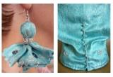 un set handmade: bluza + cercei marca Analuk's Avangarde Art