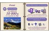 10.000 euro / luna, o excursie in alpi / luna, 500 x tricou / saptamana, 500 x minge / saptamana, 500 x memo game / saptamana, 500 x caciula / saptamana, 500 x rucsac / saptamana, 1 netbook Dell / zi, 2 x camera foto Nikon / zi, 3 x troller Lamonza / zi