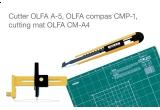 un set de instrumente profesionale de taiat OLFA