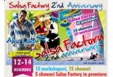 o luna gratuit la cursurile Salsa Factory pentru 2 persoane, un FullPass  pentru 2 persoane la  Aniversarea Salsa Factory, un PartyPass pentru 2 persoane la Aniversarea Salsa Factory