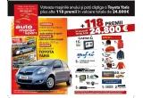 o masina Toyota Yaris, 20 x GPS, 5 x 2 bilete de avion dus-intors,3 x senzori de parcare, 10 x alarma, 5 x radio CD MP3, 12 x premiu Ferrari, 60 x macheta, 1 x portbagaj auto, 2 x suport ski-uri