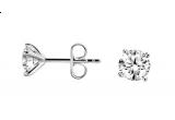 o pereche de cercei cu diamante