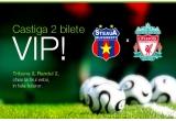 2 x ( 2 bilete la meciul Steaua - Liverpool din 2 decembrie in Tribuna 0, Sectorul A, randul 2 – chiar la firul ierbii :) ).