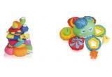 2 x set de 2 jucarii sofisticate (o piramida din inele de plus si o jucatie caracatita cu cuburi pentru baie) / saptamana