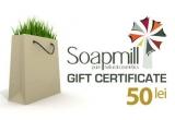 3 x Soap Mill Gift Certificate in valoare de 50 lei (+ 10 lei transportul prin Posta Romana)