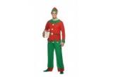 costum Mos Craciun sau costum Craciunita, costum Elf, 3 x caciula Mos Craciun + bratari fosforescente