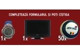 un LCD TV, un ceas Sector, 50 x minge fotbal Ancada