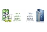 2 x set DKNY Be Delicious - parfum 50 ml + lotiune de corp 100 ml, 2 x set DKNY Fragrance - parfum 50 ml + gel de dus 150 ml