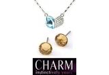 2 x bijuterie cu cristale Swarovski (medalion sau cercei)
