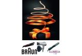 o placa pentru indreptarea parului Braun ES 3, o perie de coafat Satin·Hair ASS 1000, un uscator de par Braun Satin Hair 2200 DF