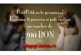 un voucher de 200 RON de la HappyClothes.ro + o carte + semn de carte handmade