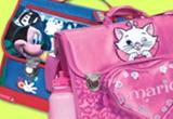 <b>Doua ghiozdane pentru copii, imprimate cu personaje din desene animate</b><br />