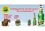 4.000 x 4 vouchere de cumparaturi in valoare totala de 200 RON, 25.000 x bax de bere Golden Brau