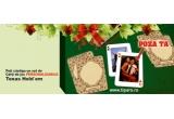 un set de carti de joc Texas Hold'Em personalizate cu pozele tale