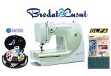 1 x masina de cusut BERNINA BERNETTE E56 (Brodat si Cusut) + instructaj gratuit; 2 x set accesorii si ata pentru cusut (COATS ROMANIA); 2 x set cuttere (OLFA)