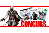 1 x joc Assassin's Creed II pentru PC, 2 x Assassin's Creed Brotherhood pentru Xbox 360 si PS3