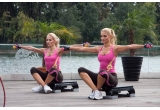 """un DVD de aerobic """"Esti asa cum vrei sa fii!"""", realizat de Valentina Pelinel cu Luminita Nicolescu"""