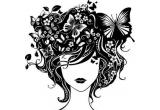 "un sticker decorativ ""Madame Butterfly"""