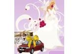 o masina Dacia Logan + o nunta completa