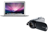 <span style=&quot;font-weight: bold;&quot;>4 laptopuri Apple MacBook Air si 12 camere video Samsung VP-MX10</span><br />