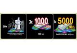 30.000 x 2 gogosi/5 covrigi INSTANT, 1.500 x voucher de 20 RON la Vel Pitar Brasov INSTANT, 3 x 1.000 RON, 30 x bicicleta copii/robot bucatarie/telefon mobil (la alegere), 1 x 5.000 RON