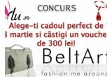 un voucher de 300 RON pentru o poseta de pe BeltArt.ro