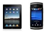 1 x o tableta Apple iPad, 1 x telefon Sony Ericsson Vivaz