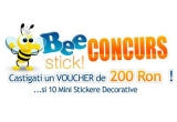 10 x sticker, 1 x voucher de 200 RON pe sticker-decorativ.ro