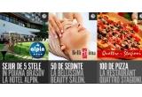 1 x sejur de 5* la Hotel Alpin pentru 2 persoane, 50 x sedinta solar, 100 x pizza la Quattro Stagioni