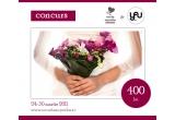 un voucher de 400 Ron pentru aranjamente florale YaU