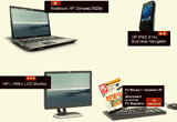 <b>Un laptop Dell, un palmtop HPiPAQ, un monitor LCD si 10 kit-uri tastatura si mouse HP</b><br />
