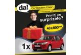 1 x masina Dacia Sandero, 10 x 500 Ron /luna