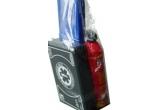 2 x pachet cu trusa sanitara auto + stingator auto + triughi de avarie