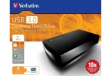 un HDD extern de 2 TB Verbatim (conexiune USB 3.0)