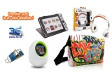 1 x geanta notebook Canyon Graffiti, 1 x pereche de casti Canyon Graffiti, 1 x rama foto digitala Canyon, 1 x E-Book Reader Prestigio, 1 x USB Flash Prestigio
