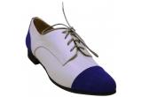 1 x o pereche de pantofi albastri din piele (marimea 37)