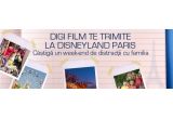 un week-end la Disneyland Paris, 5 x LCD Samsung, 10 x Sistem Home Cinema, 200 x tricou Digi Film, 2000 x  magnet de frigider inscriptionat cu Digi Film